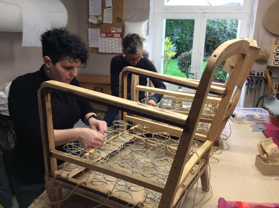 Atelier de l'Estran - Formation - Garnitures de sieges en mousse